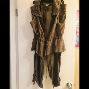 Olive green vest & slacks. New with tags. Size 14